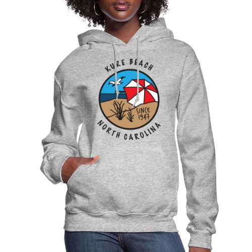 Kure Beach Day-Black Lettering-Front Only - Women's Hoodie