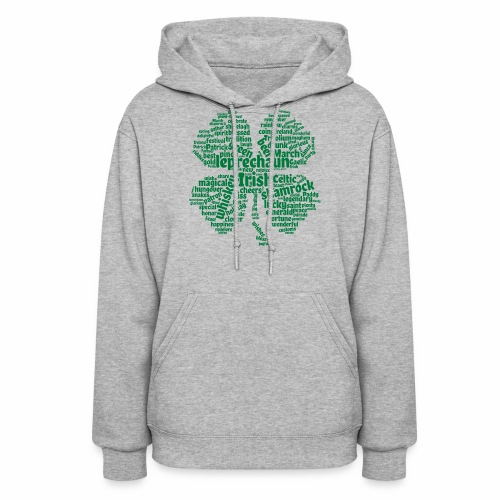 Shamrock Word Cloud - Women's Hoodie