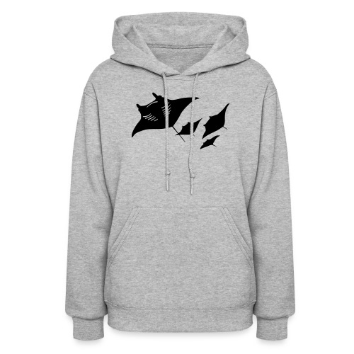 manta ray sting scuba diving diver dive - Women's Hoodie