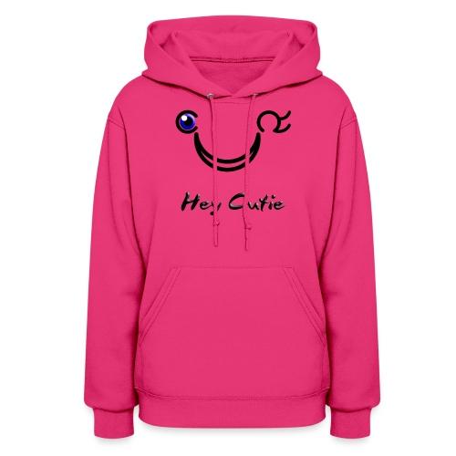 Hey Cutie Blue Eye Wink - Women's Hoodie