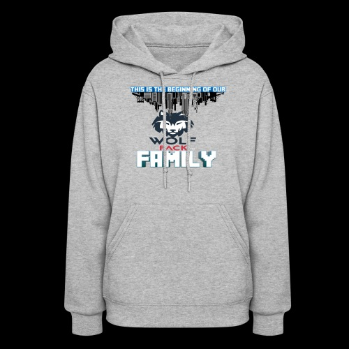 We Are Linked As One Big WolfPack Family - Women's Hoodie