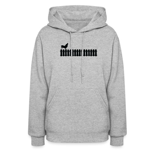 On the fence rooster - Women's Hoodie