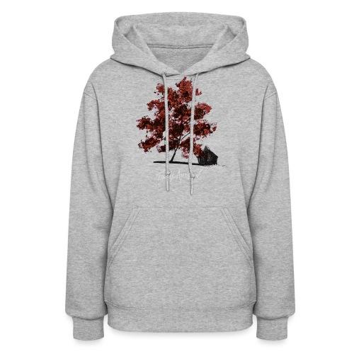 Red Tree design3PNG - Women's Hoodie