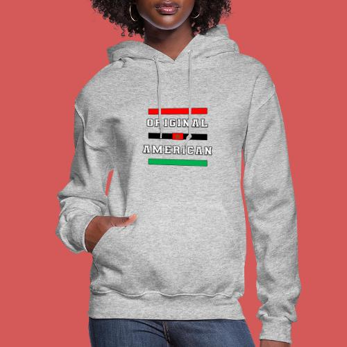 Original American Bars Moorish American Flag - Women's Hoodie