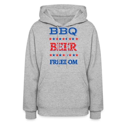 BBQ BEER FREEDOM - Women's Hoodie