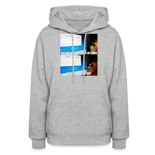 Crypto Lion Buying High and Selling Low - Women's Hoodie