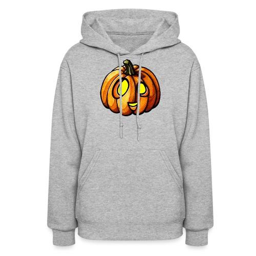 Pumpkin Halloween watercolor scribblesirii - Women's Hoodie