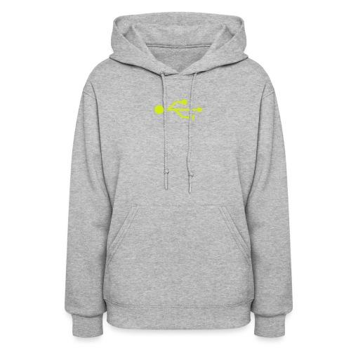 Yellow USB Logo Mid - Women's Hoodie