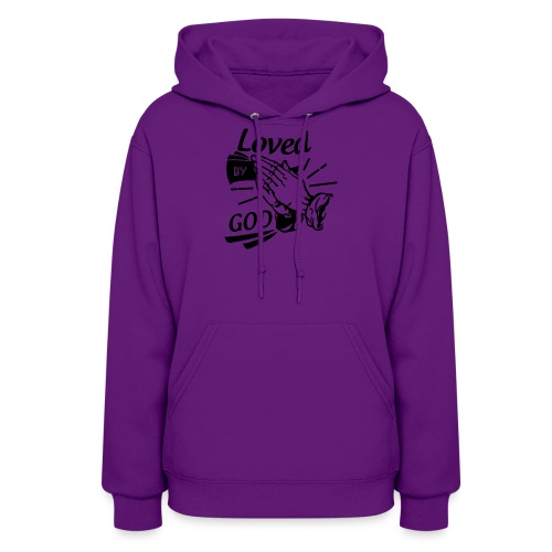 Loved By God (Black Letters) - Women's Hoodie