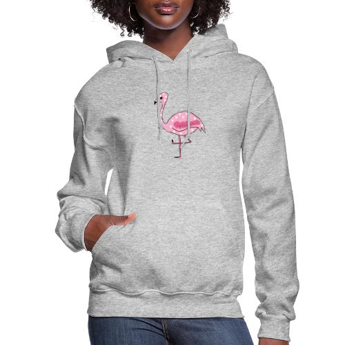 Polka Dotted Flamingo - Women's Hoodie