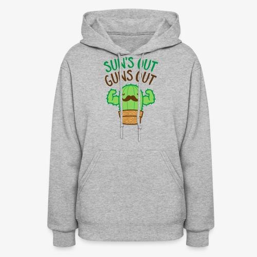 Sun's Out Guns Out Macho Cactus - Women's Hoodie
