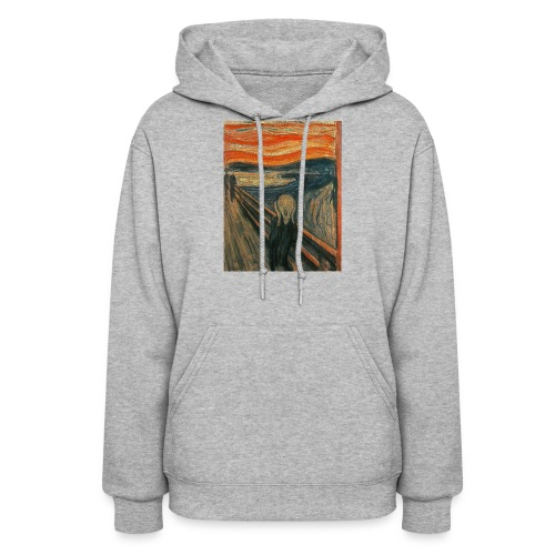 The Scream (Textured) by Edvard Munch - Women's Hoodie