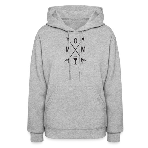 Mom Loves Wine (black ink) - Women's Hoodie