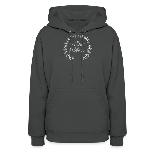 The Village Gathering // White Logo - Women's Hoodie