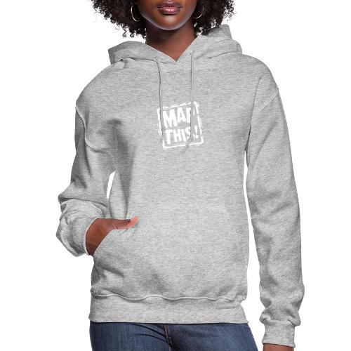 MapThis! White Stamp Logo - Women's Hoodie