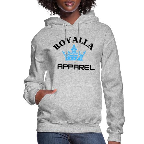Royalla Apparel LogoBlack with Blue Words - Women's Hoodie