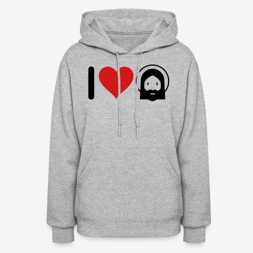 I LOVE JESUS - Women's Hoodie