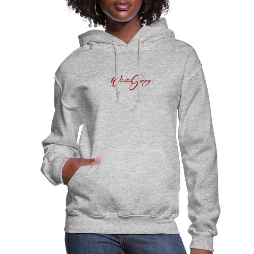 WhoStun gaming small calligraphy design RED - Women's Hoodie