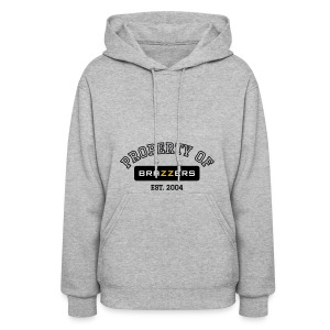 Property of Brazzers logo outline - Women's Hoodie