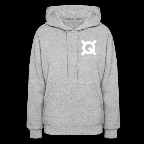 Logo Quantstamp white - Women's Hoodie