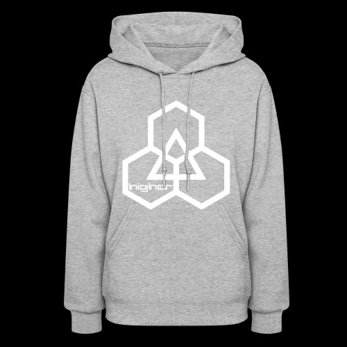 Higher text logo (white) - Women's Hoodie