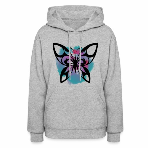 Watercolour Butterfly: A symbol of change - Women's Hoodie