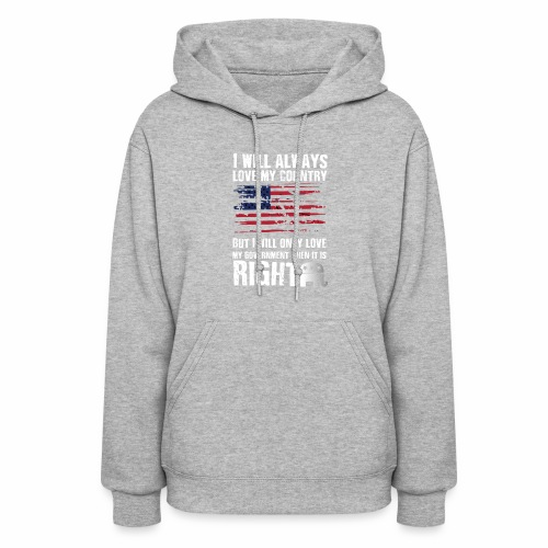 I Will Always Love My Country White - Women's Hoodie