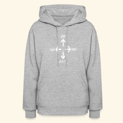 Right direction white - Women's Hoodie
