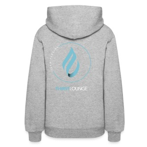 Thirst Lounge White on Black Gradient Design Hoody - Women's Hoodie