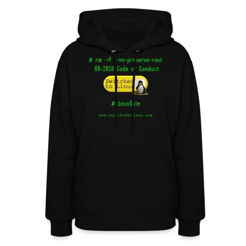 rm Linux Code of Conduct - Women's Hoodie