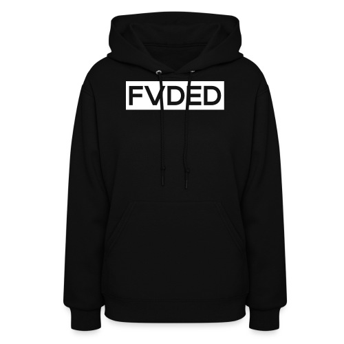 FVDED Cutout resize V1 white - Women's Hoodie