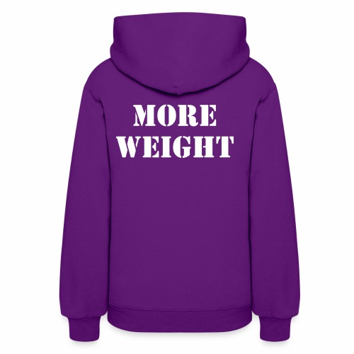 """More weight"" Quote by Giles Corey in 1692. - Women's Hoodie"