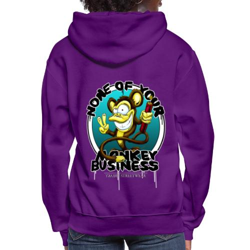 no monkey busin - Women's Hoodie