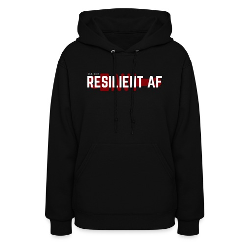 RESILIENT WHITE with red - Women's Hoodie