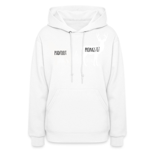 Padfoot&Prongs07 White - Women's Hoodie