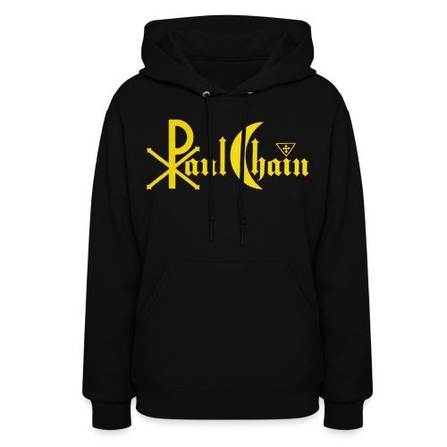 Paul Chain Coffee Mug ~ Yellow on Red - Women's Hoodie