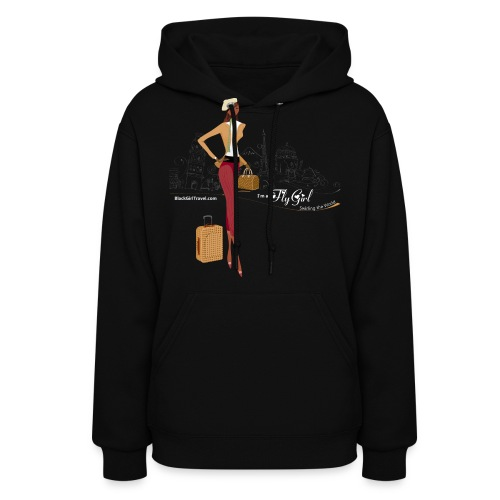 BrowOutfitWhiteTextPNG png - Women's Hoodie