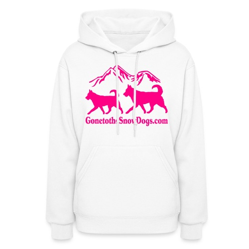 Snow Dogs with Mountain - Women's Hoodie