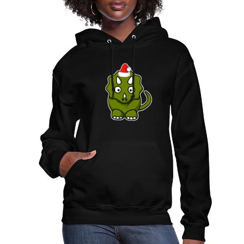 Happy Holidays Triceratops - Women's Hoodie