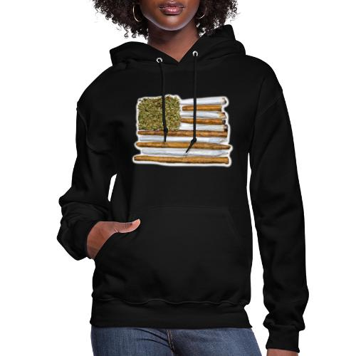 American Flag With Joint - Women's Hoodie