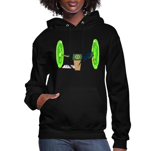 Trump and the Space Portal - Women's Hoodie