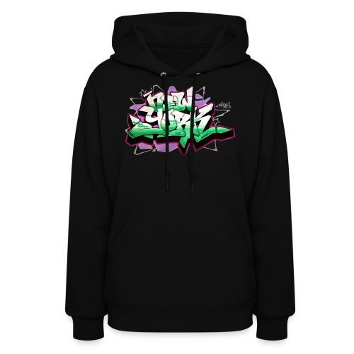 RANGE - Design for New York Graffiti Color Logo - Women's Hoodie