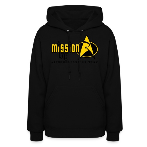 Logo Wide 2 Color Black Text - Women's Hoodie
