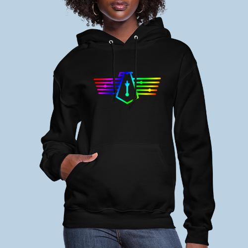 Westport Bird Rainbow on transparent - Women's Hoodie