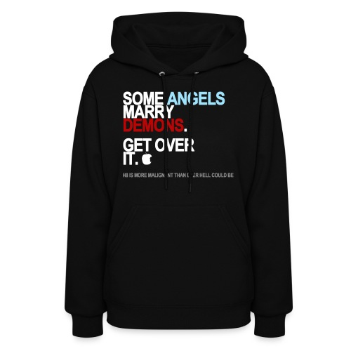 some angels marry demons black shirt - Women's Hoodie