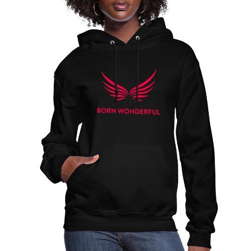 Red Born Wonderful Logo - Women's Hoodie