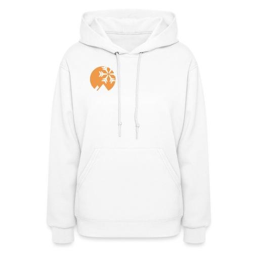 OpenSnow Logo Horizontal White - Women's Hoodie