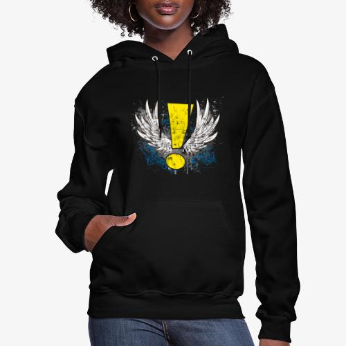 Winged Whee! Exclamation Point - Women's Hoodie