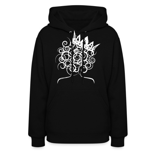 Curly Queen with Crown_ GlobalCouture Women's T-Sh - Women's Hoodie