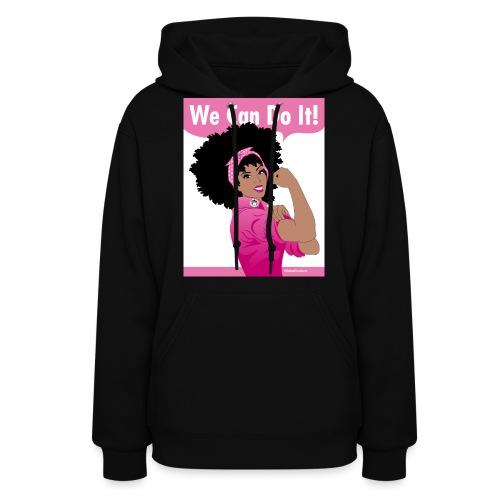 GlobalCouture2 WeCanDoItBreastCancer Poster RGB pn - Women's Hoodie
